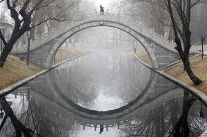 bridge with mandalic reflection