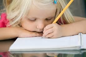 girl writes