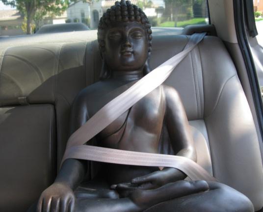 Buddha seatbelt