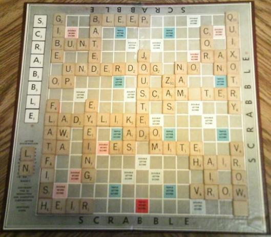 scrabble game cresta highest score