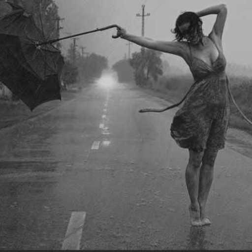 rain-dancing woman