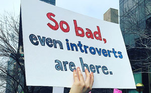 introvert protest sign trump